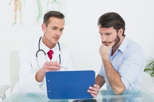 testosterone doctor with patient